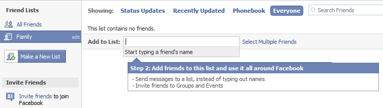 add friends to facebook list